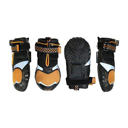 Kurgo Step N Strobe Zapatos de perro y botas de perro para nieve, verano y actividades de otoño – XXS, XS, pequeño, mediano, grande y XL