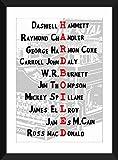 Classic Hardboiled Crime Fiction Romane A3 / A4 / A5 / 5 x 7/8 x 10 Typografie Druck, Geschenk für literarische Liebhaber