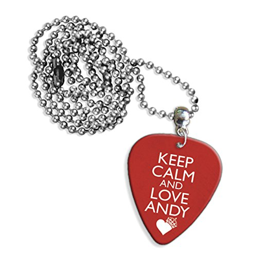 Keep Calm And Love Andy Biersack Black Veil Brides Chitarra Pick Necklace Collana (GD)