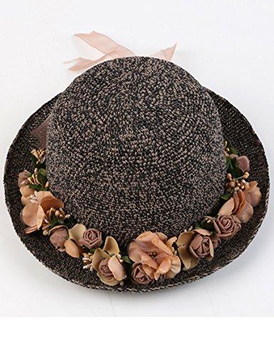 Printemps et été chapeau extérieur de soleil Chapeau pliable des vacances de plage Chapeau pastoral de pêcheur ( Couleur : 7 ) 8