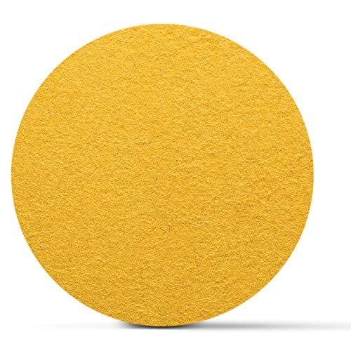 SMACC Filzuntersetzer aus Schafwolle, rund 8er Set (Farbe wählbar) - Glasuntersetzer aus 100% natürlichem Wollfilz, Untersetzer für Bar und Tisch Einrichtungsideen als Tischdeko (Gelb)