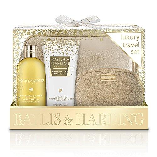 Baylis & Harding PLC Coffret Cadeau pour elle Doux Mandarin & Pamplemousse Luxe Set Voyage