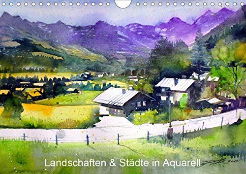 Städte und Landschaften in Aquarell (Wandkalender 2020 DIN A4 quer) - Zeitgenössische Aquarelle