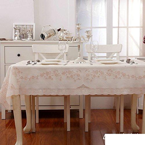 Pvc wasserdicht und Ölbeweis vinyl tischdecke spitze,European-style rechteckiger tisch tuch tischdecke-B 132x177cm(52x70inch) (52 X 70 Tischdecke)