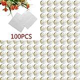 Aiming 100pcs Plaza envolturas de Papel de Aluminio Paquete Colorido de piruletas de Chocolate Dulces de Caramelo