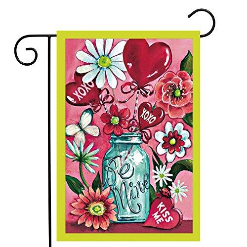 ge, Home Dekorative Vertikal Doppelseitig Rot Herz Vase Garten Flagge Indoor & Outdoor Hängende Dekoration 31,8x 45,7cm ()