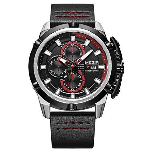 JL Watch, Wasserdichte Quarz-Uhr für Herren Outdoor-Freizeitgeschäft mit Uhr,Black
