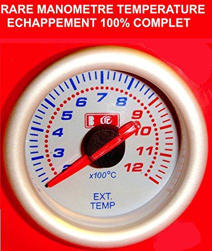 Superbe manómetro Temperature echappement Turbo fondo color blanco a Eclairage. Raid Preparation 4x...