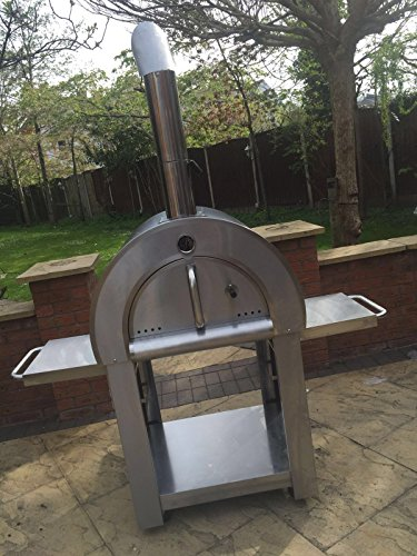 Super Grills Premium Outdoor Pizza Oven Wood Fired Stainless Steel plus Cover