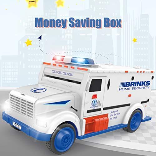 Neuheit Design Bargeld LKW-Form Automatische Deposit Saving Box Electronic Light Passwort Münzen-Geld-Kasten-Piggy Bank-Kind-Geschenk