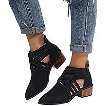 Zapatos Mujer Otoño Invierno JiaMeng Moda Botas de Nieve Botines Zapatos de otoño Tobillo sólido Romano