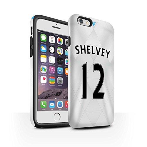 Offiziell Newcastle United FC Hülle / Glanz Harten Stoßfest Case für Apple iPhone 6S / Saivet Muster / NUFC Trikot Away 15/16 Kollektion Shelvey