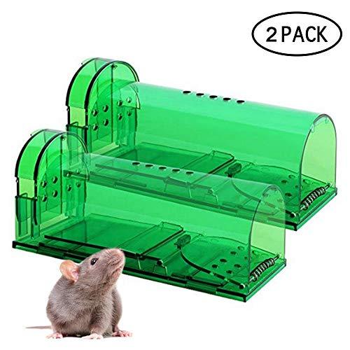 FOONEE 2pcs Upgrade-Version Humane Mausefalle Mit Luftlöchern, Effektive Humane Smart-Mausefalle, Die Ratten-Mäusefallen Fangen Und Freigeben Für Indoor & Outdoor