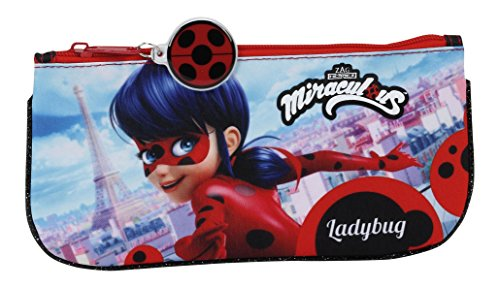 Lady Bug Miraculous – Estuche portatodo plano (Safta 811702028)