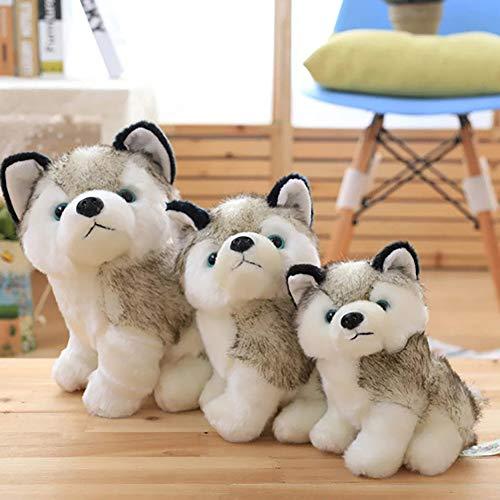 (AchidistviQ Plüschtier Husky Hund Plüsch Spielzeug Welpe Stofftier Kinder Jungen Mädchen Puppe Plüsch Spielzeug Hundespielzeug Hund Puppe Imitation Husky, 50 cm)