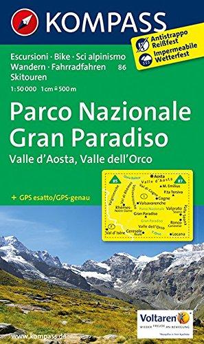 Gran Paradiso 86 09 Gps Wp Kompass Valle par Kompass-Karten