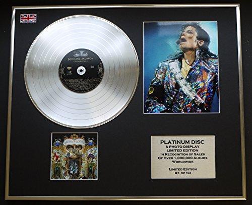 MICHAEL JACKSON/CD PLATINUM DISC & PHOTO DISPLAY/LIMITED EDITION/COA/ALBUM DANGEROUS