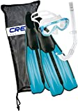 Cressi Mask Snorkel Set and Flippers Adult and Kids, Made in Italy