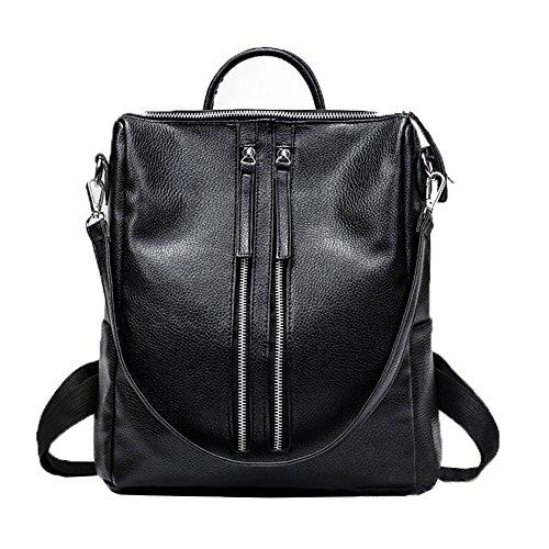 spalla-borse-zaino-stile-semplice-morbido-multi-funzionare-lampo-tasca-donna-nero