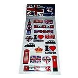 I Love London England UK United Kingdom Sticker-Set/Aufkleber-Set, UK-Souvenir Souvenir/Speicher-Memoria! Sehr Sammelsticker alle London Symbol vertreten! Fun, aufregende-UK Souvenir zum Sammeln! Einzigartiges und pädagogische Souvenir! Autocollants/Aufkleber/Adesivi/Pegatinas!