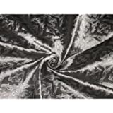 Seide Brokat Stoff Dark Steel Grau ist Silber Farbe
