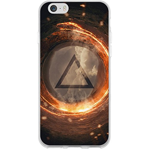 PhoneNatic Case für Apple iPhone 6 Plus / 6s Plus Silikon-Hülle Element M1 Case iPhone 6 Plus / 6s Plus Tasche + 2 Schutzfolien Motiv:03 Element Feuer