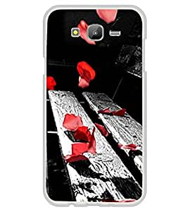 Red Petals on Bench 2D Hard Polycarbonate Designer Back Case Cover for Samsung Galaxy On5 (2015) :: Samsung On 5