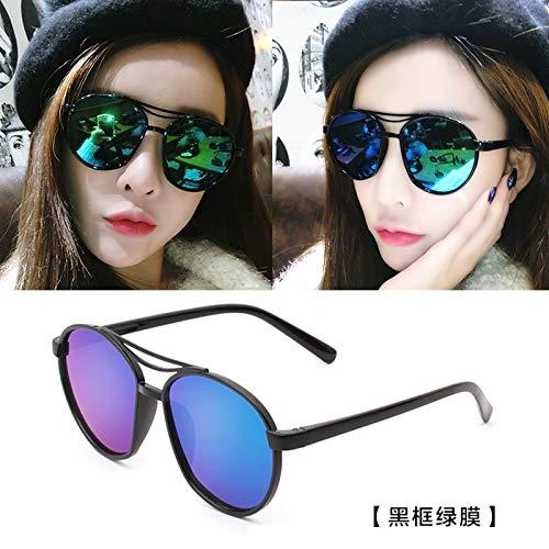 brillen Polarisierte Verschleißgläser Reduzieren Kräftig Leuchtend Leichte Avant-garde-weibliche Klassische Sonnenbrillen Black Frame Green Film (Taschenklau) ()
