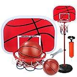 KANGLE Mini Basketballkorb Einstellbare Höhe Portable Basketball Set Stehend Basketball Ziel Hoop Set Für Kleinkind Jugend Kinder,120Cm