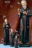 Immagini Statue Sacre Padre Pio h 12 cm In Resina Paben