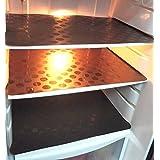 Khushi Creation Coin Design Refrigerator Drawer Mats/Fridge Mats/Multi Purpose Mats Set Of 6 Pcs (Brown)
