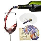 Agemore Set di 12 Salvagocce per il vino, sottili e flessibili