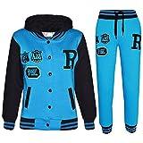 A2Z 4 Kids® Kinder Mädchen Jungen Baseball Trainingsanzug NYC FOX Jacke & Hose - T.S Baseball FOX Turquoise 13