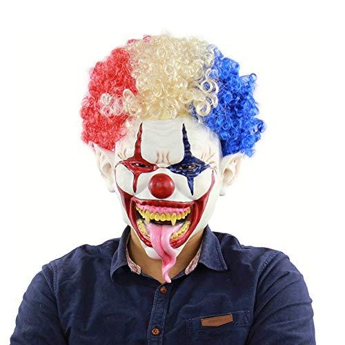 Latex-Maske Für Halloween, Clown-Maske, Explosion Kopf Großen Mund Lange Zunge Gesichtsmaske, Schelmische Horror-Maske Beängstigend Gesicht Beängstigende Halloween-Kostüm-Party
