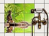 creatisto Fliesenfolie selbstklebend 15x15 cm 3x3 Design Buddha Zen (Erholung) Klebefolie Küche Bad