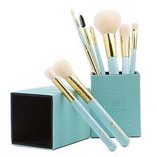 amoore Make Up Pinsel Pinselset 8Pcs Make Up Pinsel Sets Make Up Buersten mit der PU Leder Pinsel Eimer Mintgrün