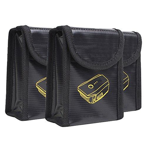 3x Lipo Batterie Safe Bag Lipo Tasche feuerfest - Alxcio Explosionsgeschützte Lipotasche Sicherheit Pouch Batterie Guard Beutel Brandschutztasche Für DJI Mavic Pro