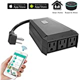 WeniChen IP44 Waterproof Outdoor Wifi Smart Extension Socket 3 Outlets Power Strip Support Voice Control
