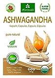 Ashwagandha Kapseln 120 Stück Vegi 600mg (Top Qualität) - Schlafbeere, Winterkirsche, Withania Somnifera, Indischer Ginseng - von MoriVeda (1x120)