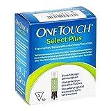 OneTouch Select Plus glucosa en la sangre tiras de prueba, paquete de 50