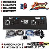 Pandoras Box 7 3D-Heim-Arcade-Spielkonsole|Includes 2177| HD 1920x1080|10 3D-Spiele und 2166 2D-Spiele | Eingebaute USB-Anschlüsse und eine TF/Micro SD-Karte | Anpassbare Steuerelemente | 2 Spieler