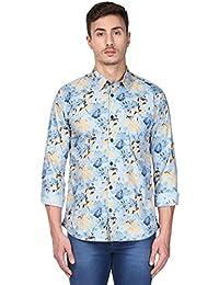 Park Avenue Men's Printed Slim Fit Casual Shirt