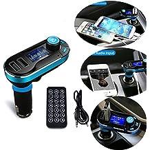 SEGURO® Lettore MP3 Trasmettitore FM Bluetooth Caricabatteria per auto con