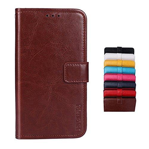 SHIEID® LG Q Stylus Brieftasche Hülle PU+TPU Kunstleder Handyfall für LG Q Stylus mit Stand Funktion EIN Stent-Funktion (Braun)