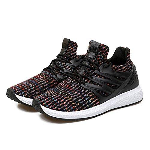 Baskets Mode Homme Femme, Gracosy Sports Léger Sneakers Basses Chaussures de course Running Ville Training Tennis - Multicolore - 42 EU