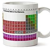 Tasse pour le petit-déjeuner avec le tableau des éléments à offrir aux chimistes. Cadeau pour les scientifiques. Céramique 350 ml