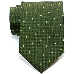 Retreez corbata para hombre, Retro, lunares cuadrados, tejida, corbata–varios colores verde Ejercito Verde Talla única