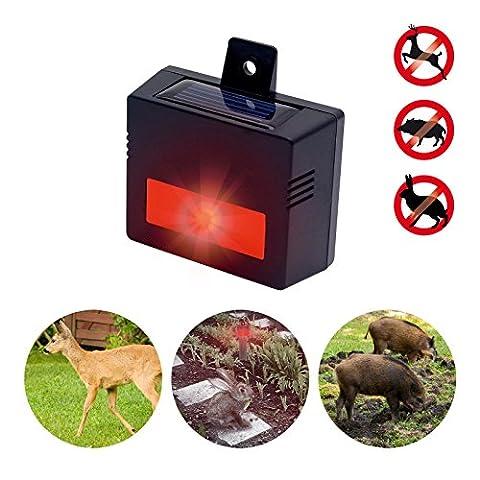 Gardigo Solar wild animal repeller electronic repeller against wild animals on your property against roar deer rabbits badger racoon fox