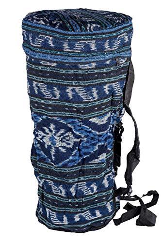 Ciffre Große 60cm x 30cm Djembe Trommel Tasche Batik Handarbeit Bongo Reisverschluss
