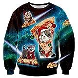 Bfustyle 3d Funny Pizza-Katze-Druck-beiläufiges langes Hülsen-Sweatshirt Kleidung